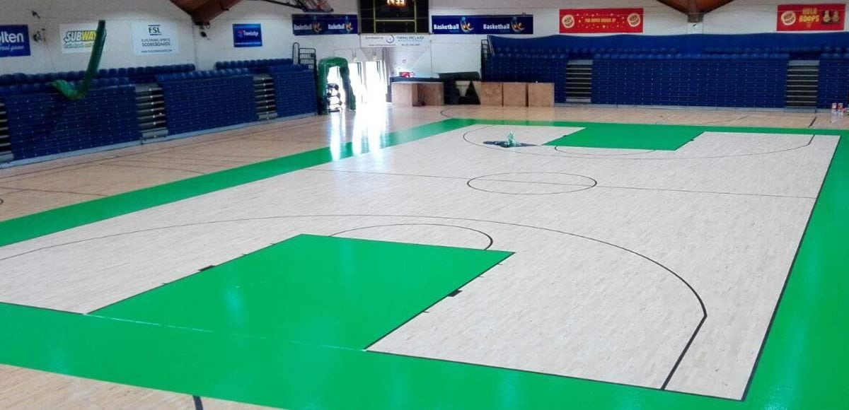 National Baskeball Arena - Sanding & line marking