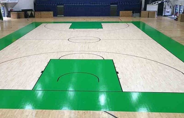 Install Sand and varnish school sports halls national Basket ball arena after we have stained and sealed the court 12