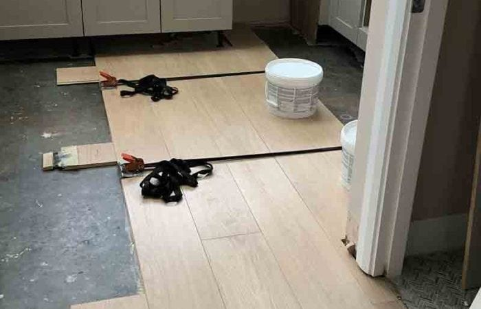 Installed wood floor in a new build Adamstown
