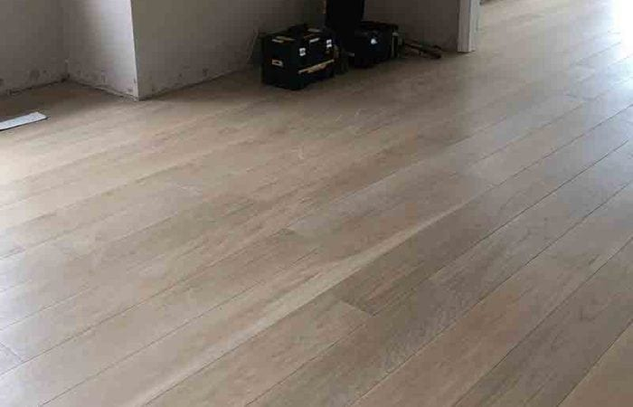 Installed wood floor in a new build Clontarf