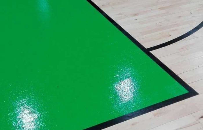 Installing and Sanding school gym halls with line marking like the national Basket ball arena 10