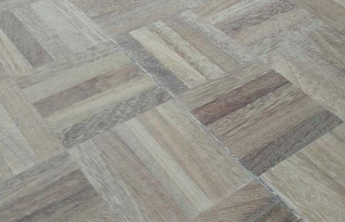 Mosaic pattern parquet wood flooring Dubdrum