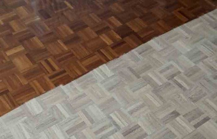 Mosaic pattern parquet wood flooring Rathgar