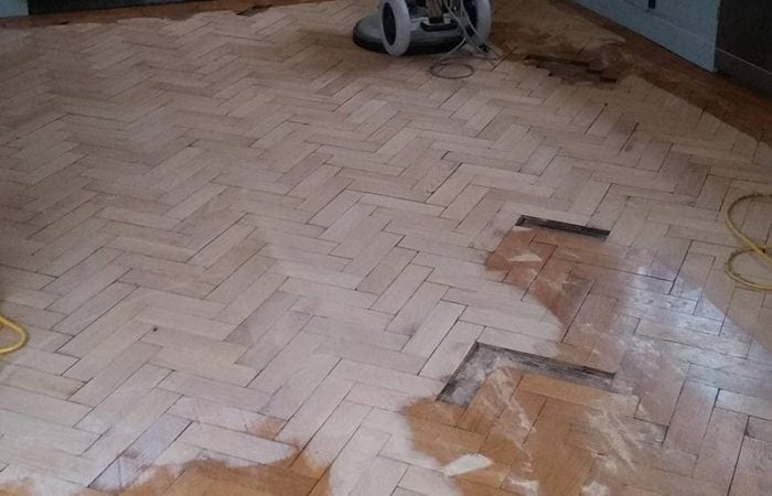 Oak parquet floor in Kitchen Dublin 1