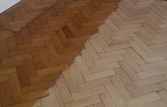 Oak parquet floor in Kitchen Dublin 2