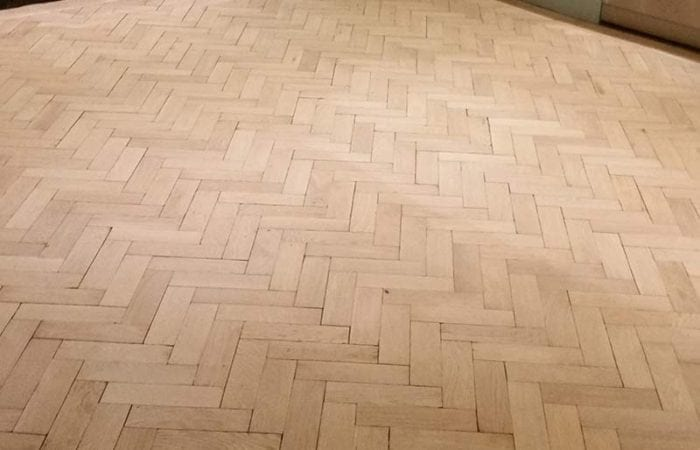 Oak parquet floor in Kitchen Dublin 3