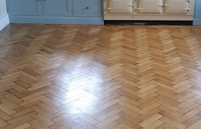 Oak parquet floor in Kitchen Dublin 4