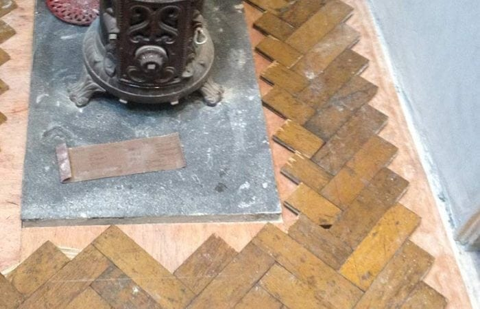 Oak parquet floor in Kitchen Dublin 6