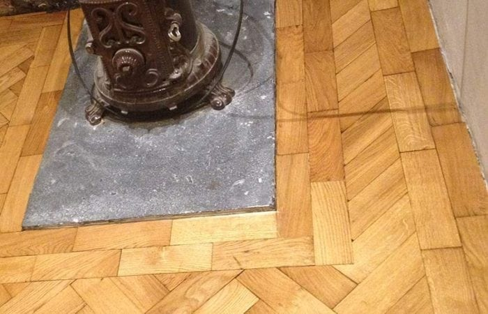 Oak parquet floor in Kitchen Dublin 8