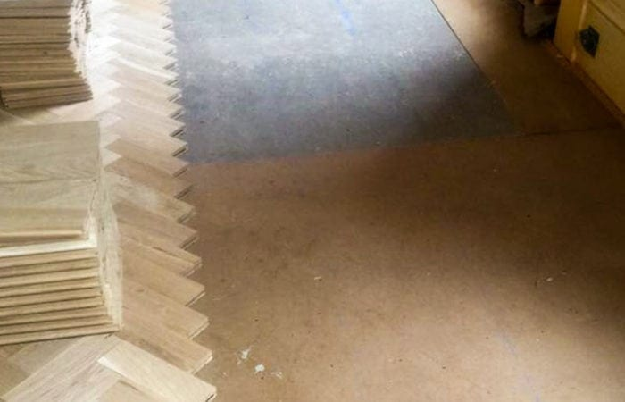 Reclaimed Parquet installed old historical house Dublin 1