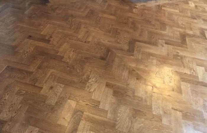 Reclaimed Parquet installed old historical house Dublin 10