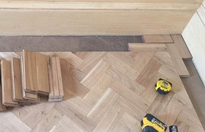 Reclaimed Parquet installed old historical house Dublin 3