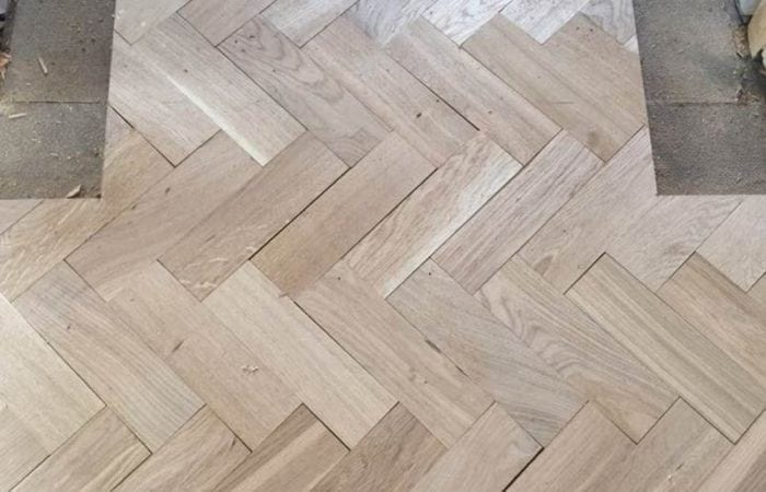 Reclaimed Parquet installed old historical house Dublin 4