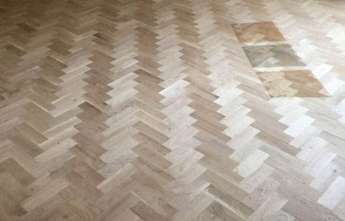 Reclaimed Parquet installed old historical house Dublin 6