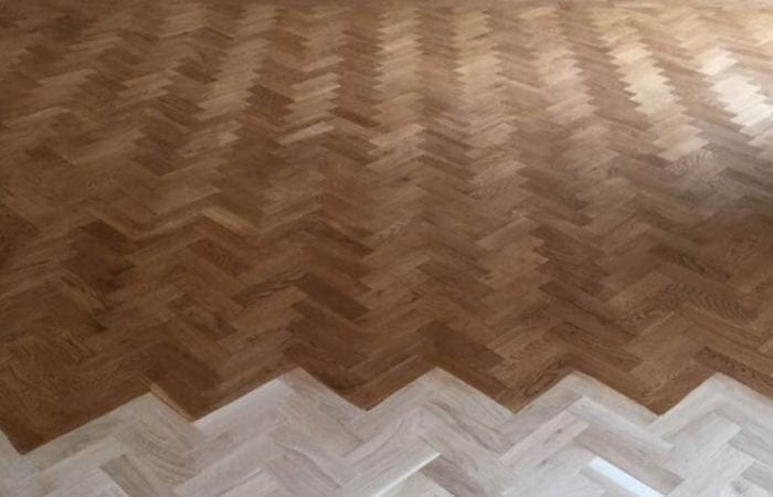 Reclaimed Parquet installed old historical house Dublin 7