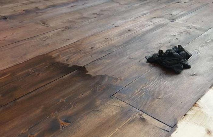 Reclaimed old plank floorboard installation Adamstown