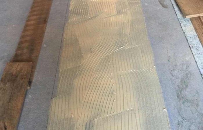 Reclaimed old wide oak plank floorboard installation Leopardstown