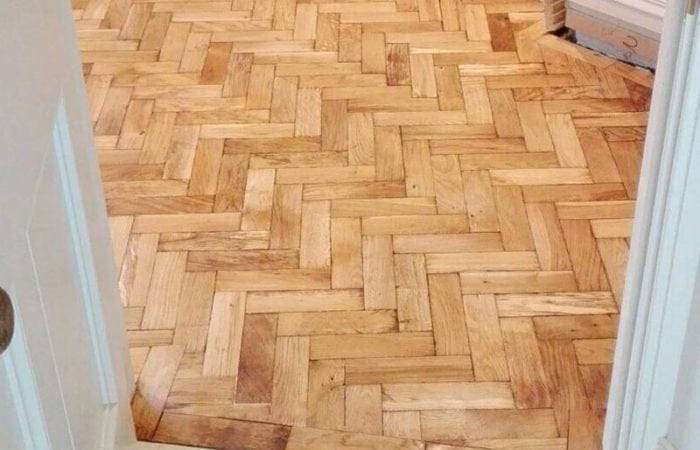 Reclaimed Parquet herringbone pattern Rathgar