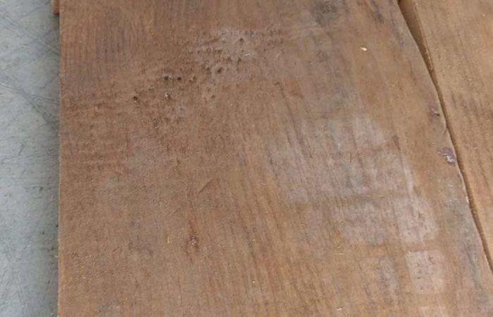 Reclaimed pine plank floorboard installation ballinteer