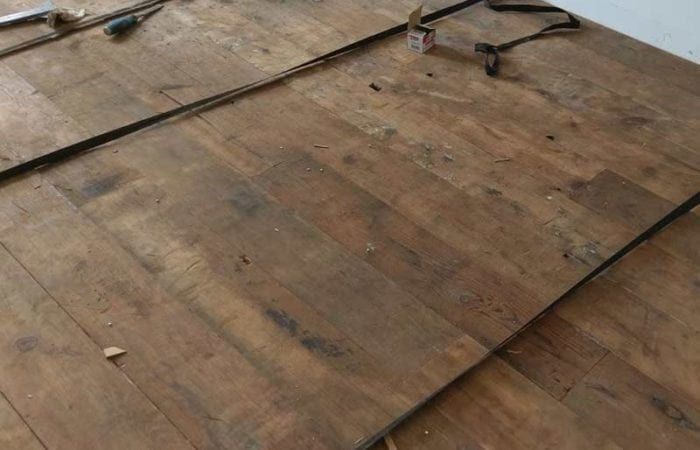 Reclaimed wide plank floorboard-installation edmondstown