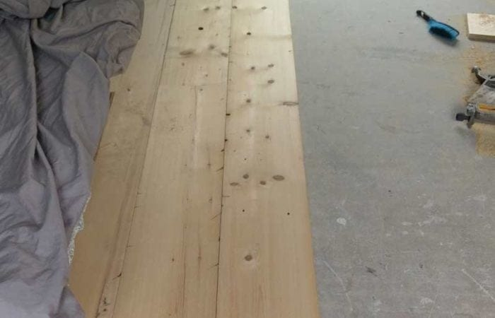 Reclaimed wide plank floorboard installation harolds cross