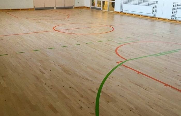 Sanding and line marking for school sports halls and clubs around dublin