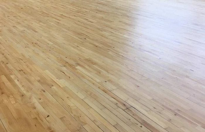 Sanding and line marking for school sports halls brought back to life by sanding company
