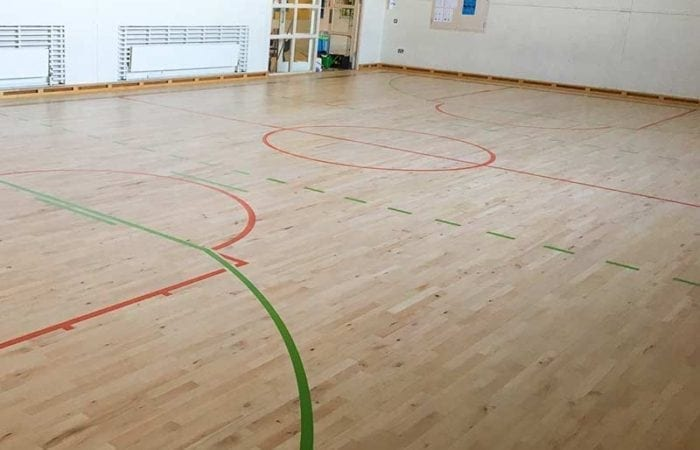 Sanding and line marking for school sports halls and clubs around Ireland