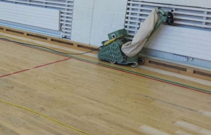 Sanding and line marking for school sports halls and clubs around meath