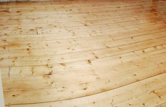sanding and repairing gaps in wood flooring Terenure