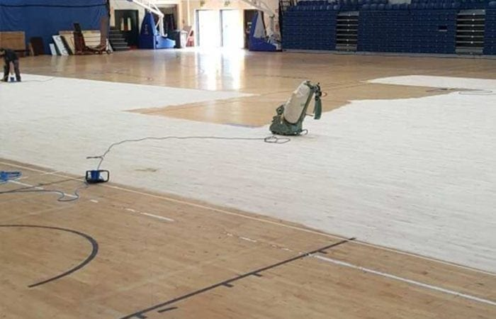 Dust Free Sanding school gym and sports halls national Basket ball arena 3