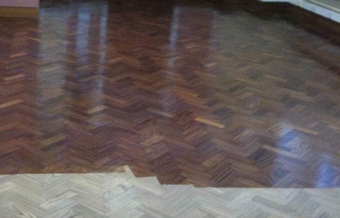 restoring parquet wood floor in maynooth university