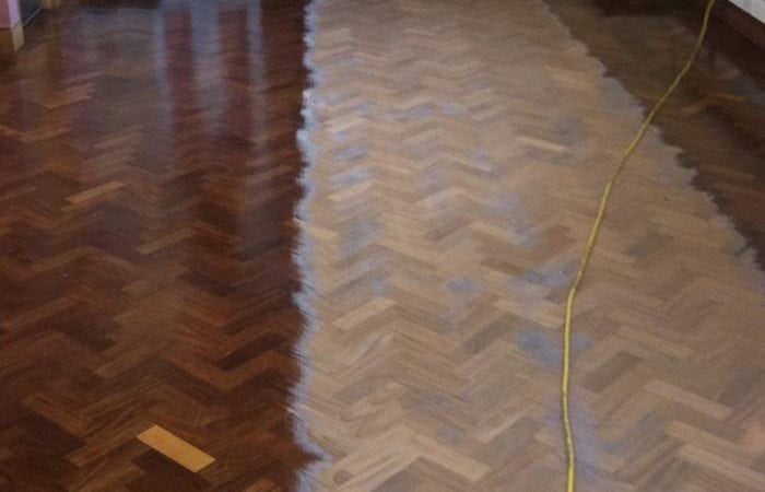 restoring parquet wood floor of the national university of ireland