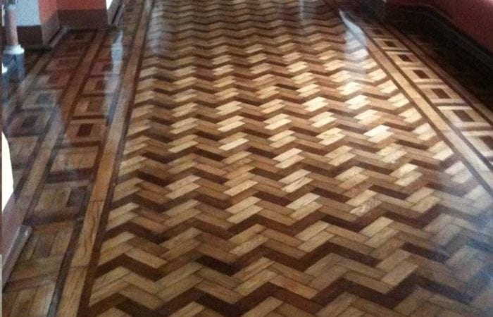 restoring parquet wood floor national university of Ireland hall