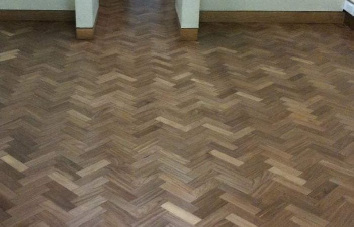 restoring parquet wood flooring in the national university of Ireland