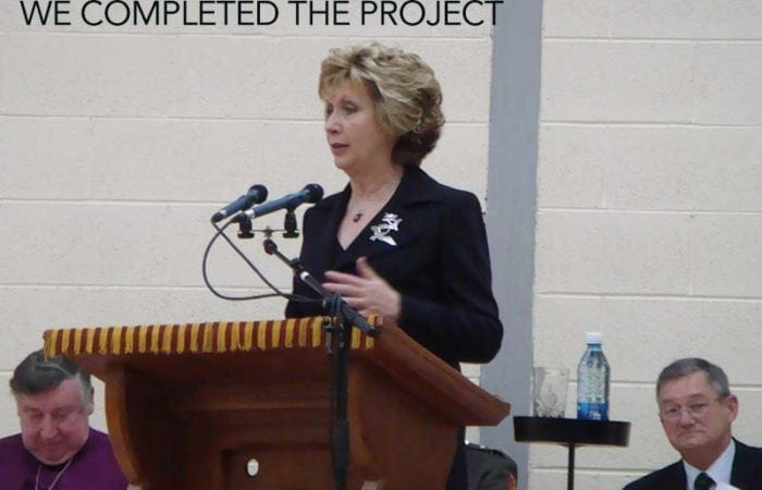 school gym floors Mary McAleese Opens the new hall after completion