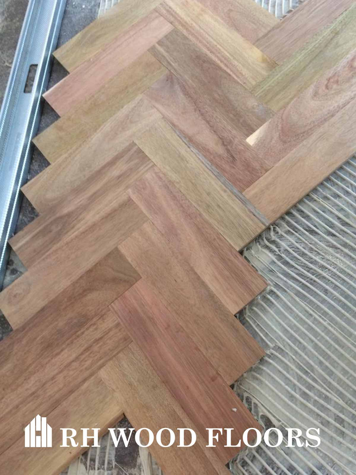 Dylan hotel parquet install acacia wood block