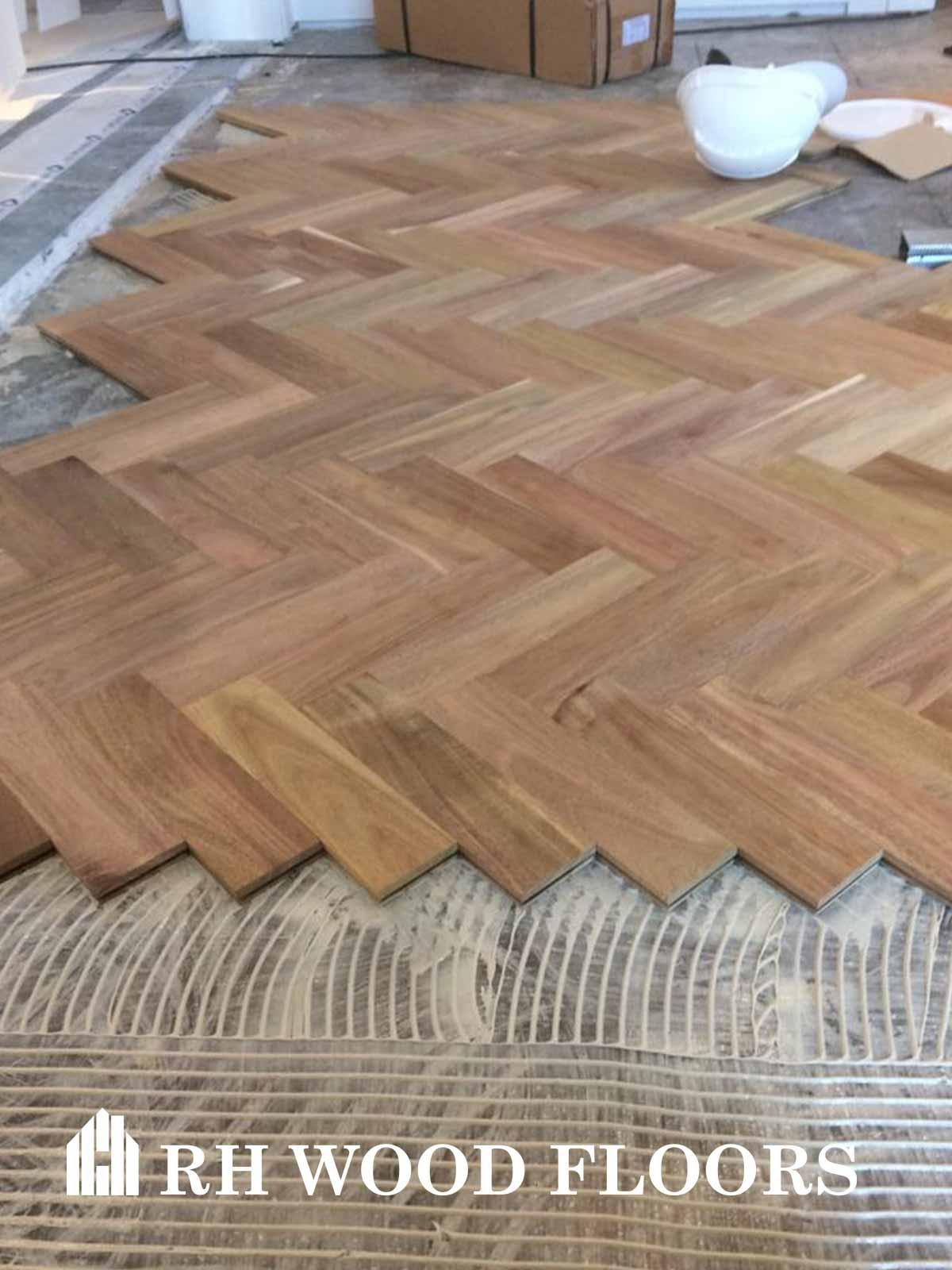Dylan hotel parquet install Rh Wood Floor company